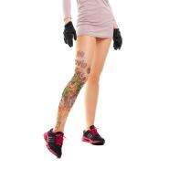 Колготки с имитацией татуировки