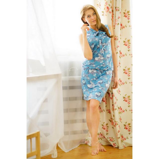 Платье E5059 голубой